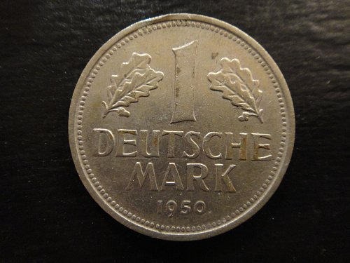 GERMANY WEST 1 Mark 1950-G Extra Fine-40 KM#110 First Year Of Type!