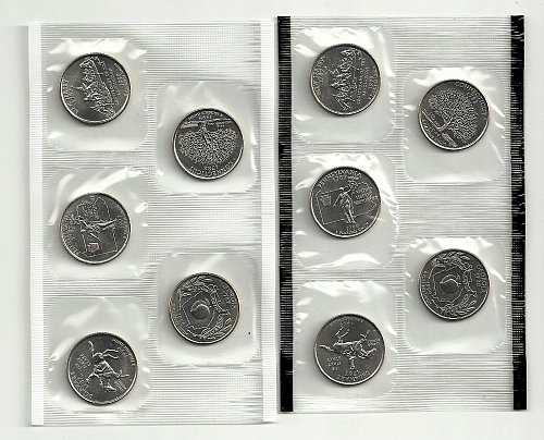 a mint set of 10  state quarters 1999 5ea. P&D