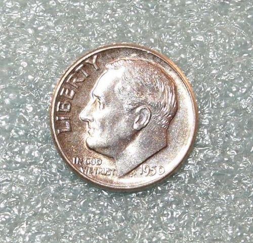1950 silver dime