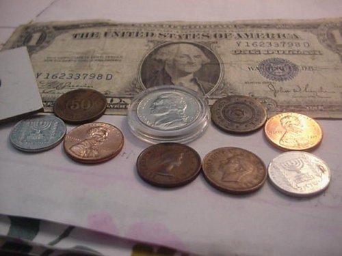 JUNK DRAW COINS,TOKEN,SILVER CERT..
