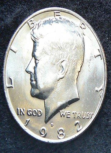 1982 D Kennedy Half Dollar