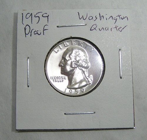 1959 Washington Quarter Proof - Nice Coin