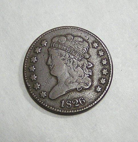 1826 Classic Head Half Cent - Nice Brown VF