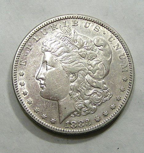 1883-S Morgan Dollar - AU Condition