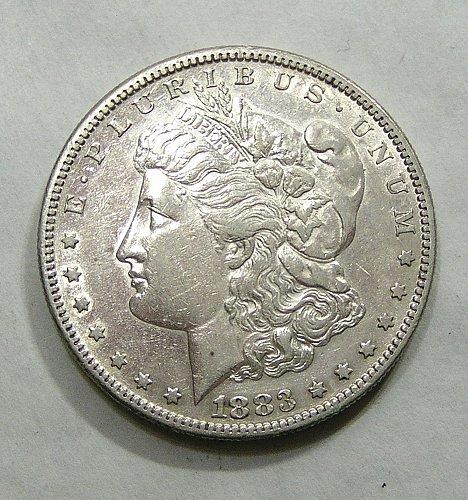 1883-S Morgan Dollar - AU Condition