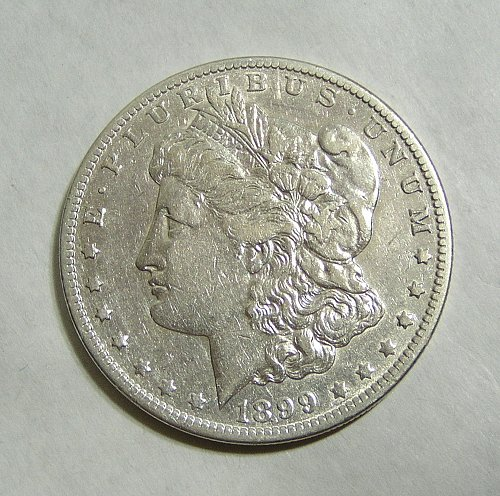 1899-O Morgan Silver Dollar VAM-31 Small Micro O Tilted Right - XF