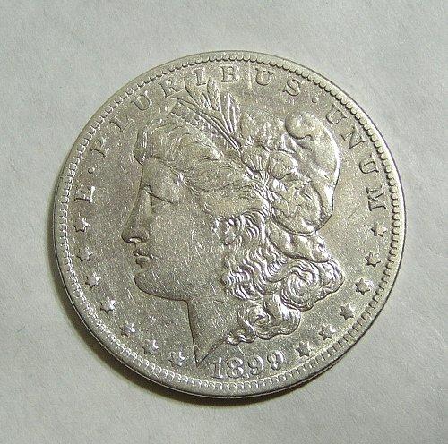 1899-O Morgan Silver Dollar VAM-31 Small Micro O Tilted Right - XF