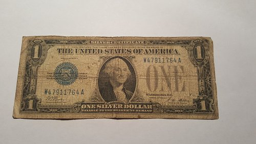 """1928 A """"Funny Back"""" $1 Silver Certificate"""