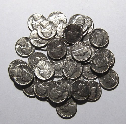 ROLL OF 40 1962 D JEFFERSON NICKELS UNCIRCULATED