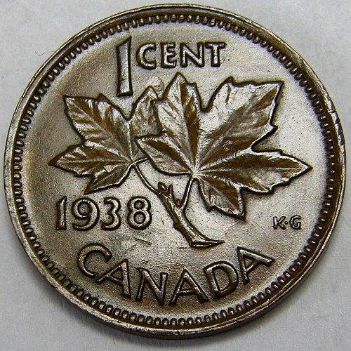 1938 CANADA Cent