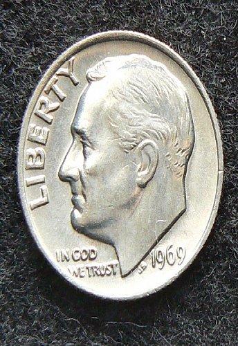 1969 P Roosevelt Dime