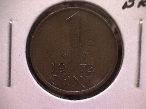 1972 NETHERLANDS ONE CENT