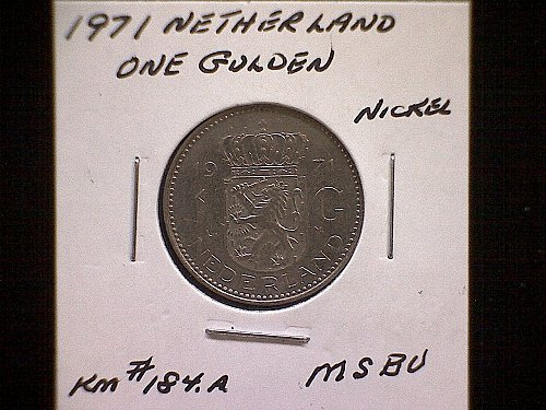 1971 NETHERLANDS ONE GULDEN