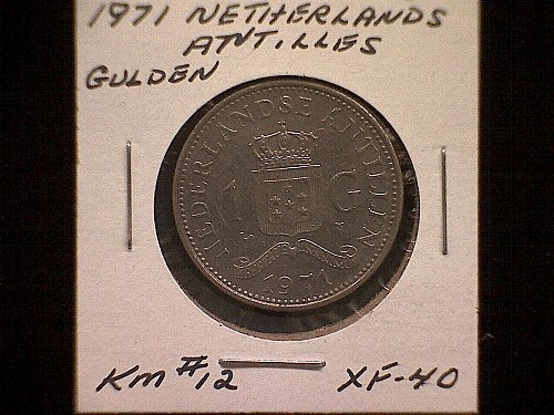 1971 NETHERLANDS ANTILLES ONE GULDEN