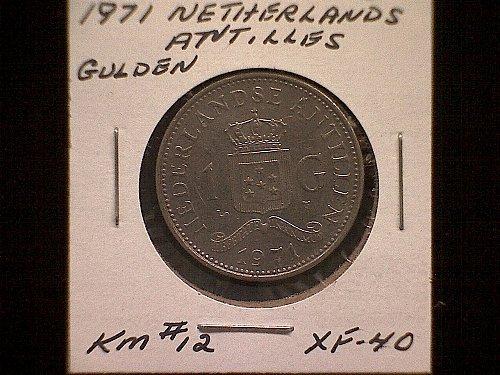 1971 NETHERLANDS ANTILLES ONE GULDEN