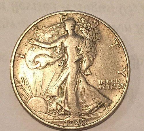 1945 Walking Liberty Half Dollar