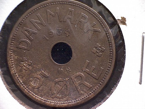 1934H DENMARK FIVE ORE