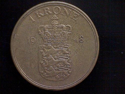 1948H DENMARK ONE KRONE