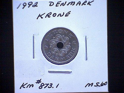 1992 DENMARK ONE KRONE