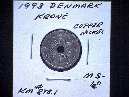 1993 DENMARK ONE KRONE