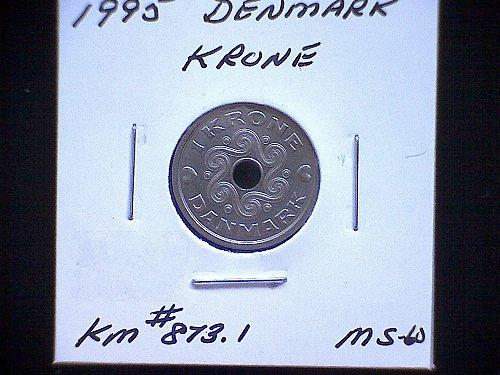 1995 DENMARK ONE KRONE