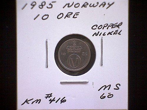 1985  NORWAY TEN ORE