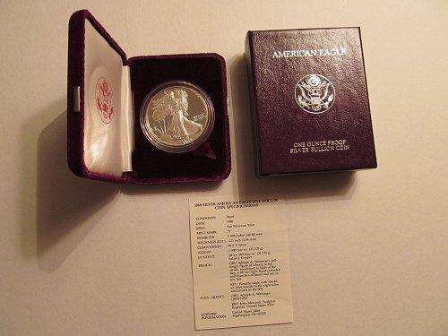 1988 S Silver American Eagle #6G