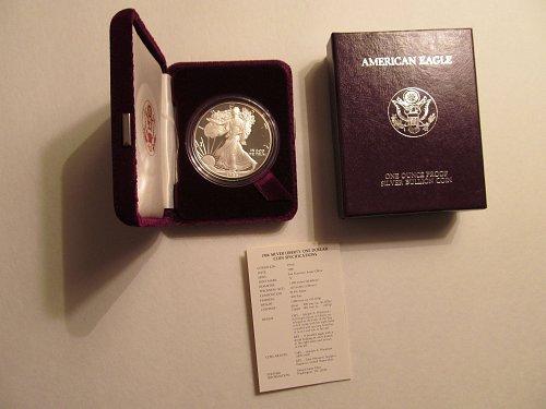 1986 S Silver American Eagle #6H