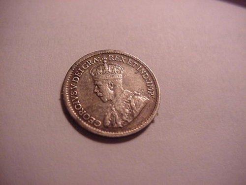 1917 5 cent  canada silver
