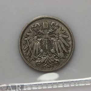 1893 austria 20 heller nice