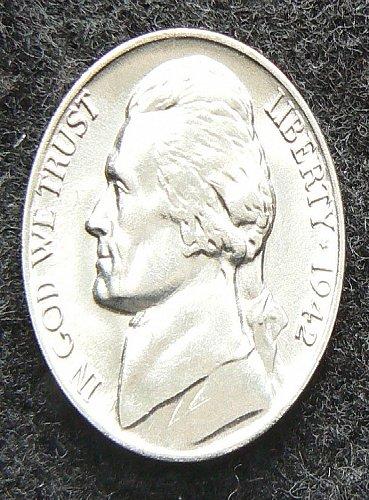 1942 S Wartime Jefferson Nickel