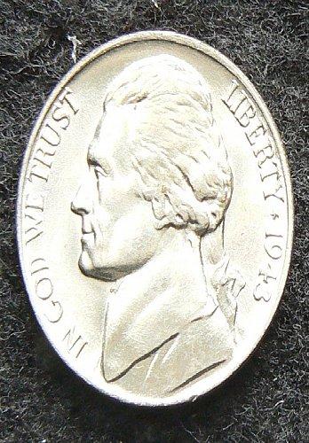 1943 D Wartime Jefferson Nickel