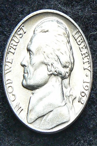 1962 D Jefferson Nickel