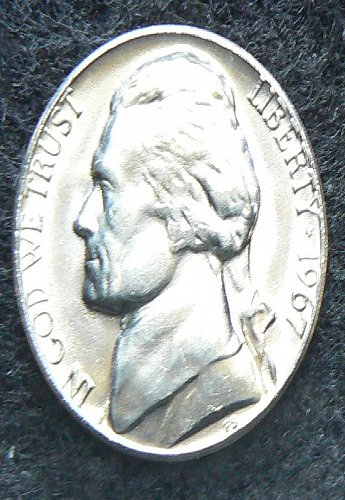 1967 P Jefferson Nickel