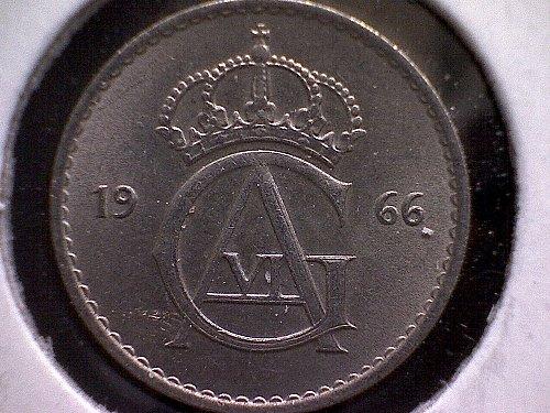 1966 SWEDEN TEN ORE