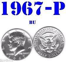 1967 P half dollar..silver b/u