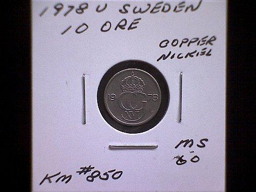 1978V SWEDEN TEN ORE