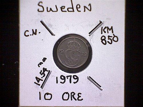 1979 SWEDEN TEN ORE