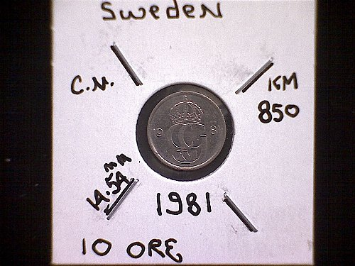 1981 SWEDEN TEN ORE