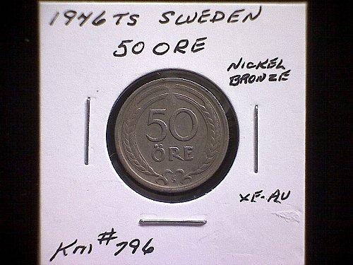 1946TS SWEDEN FIFTY ORE
