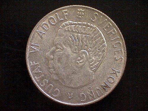 """1966V SWEDEN ONE KRONA  """"SILVER"""""""