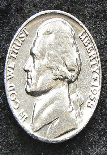 1958 P Jefferson Nickel FS