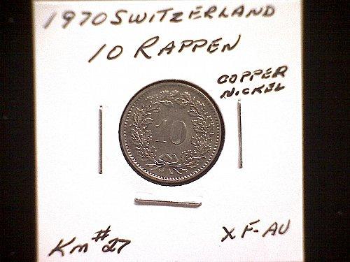 1970 SWITZERLAND TEN RAPPEN