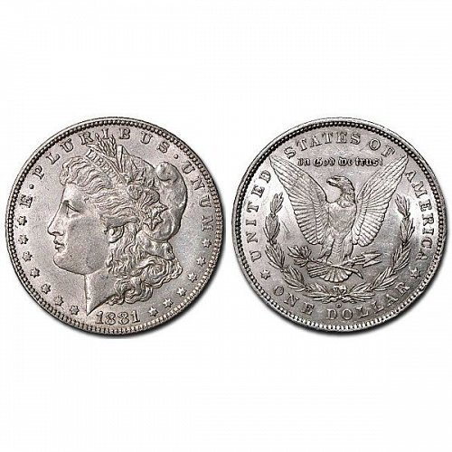 1881 O Morgan Silver Dollar - AU
