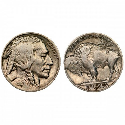 1913 D Buffalo Nickel Type 2 - VF