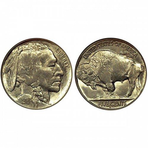 1914 D Buffalo Nickel - Choice BU