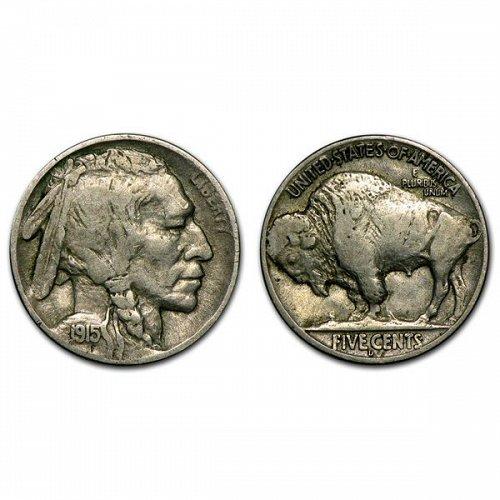 1915 D Buffalo Nickel - VF