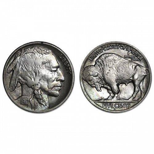 1917 D Buffalo Nickel - AU