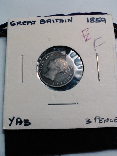 1859 - SILVER (.925) BRITISH 3 PENCE