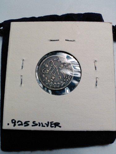 1859 - SILVER (.925) BRITISH 3 PENCE